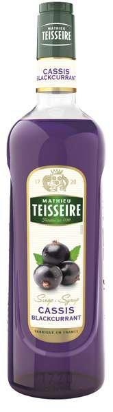 Bar Sirup Cassis - schwarze Johannisbeere - Teisseire Special Barman - 1L