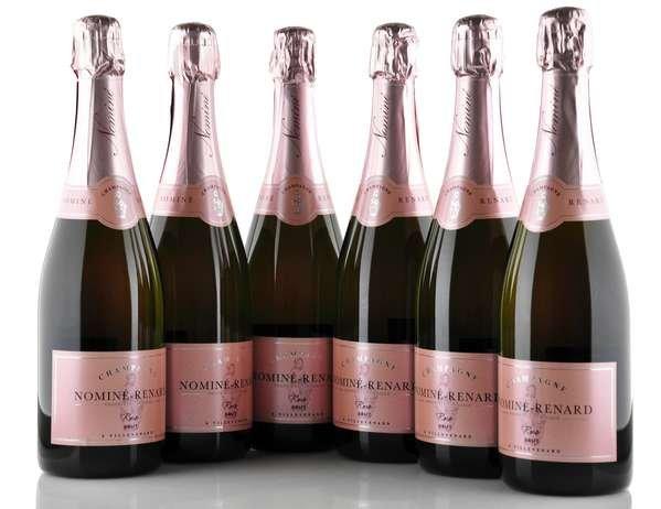 6 X Nominé Renard Champagner Rose Brut