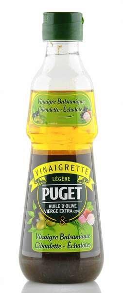 Puget Dressing mit Olivenöl, Balsamico, Schnittlauch und Schalotten 330ml
