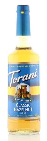 Torani Sirup Haselnuss zuckerfrei 750ml Flasche