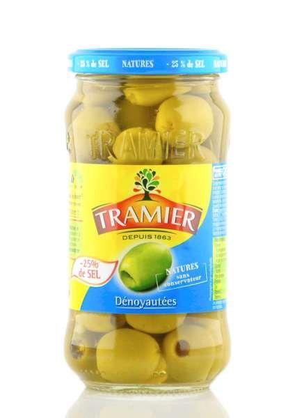 Tramier grüne Oliven Salzreduziert 335g Glas / Atg. 160g