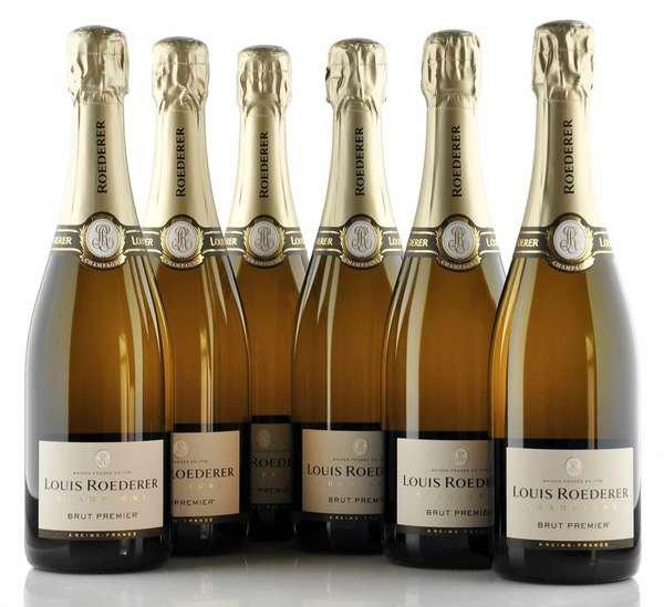 6 X Louis Roederer Champagner Brut Premier 0,75l