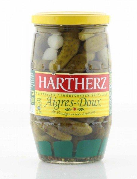 Hartherz Delikatess Gewürzgurken süss-sauer 690g. / Atg. 380g