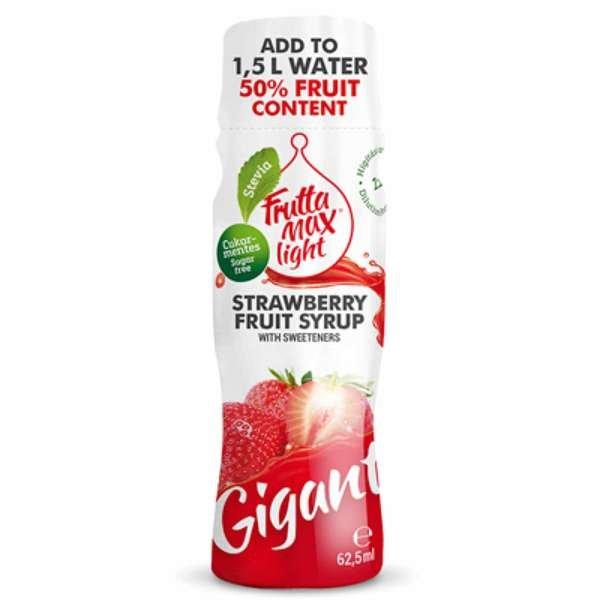 Frutta Max Light Gigant Fruchtsirup ohne Zucker mit Erdbeer-Geschmack 62,5ml