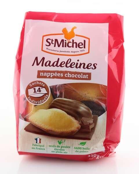 St Michel Madeleines mit Schokolade 350g Beutel