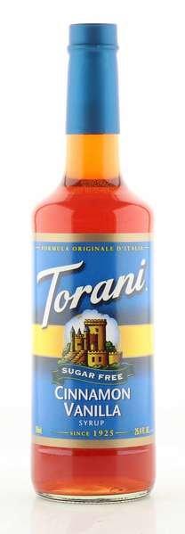 Torani Sirup Zimt-Vanille zuckerfrei 750ml Flasche