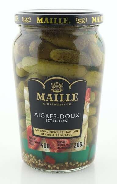 Maille Gurken Cornichons süß-sauer extra fein 205g