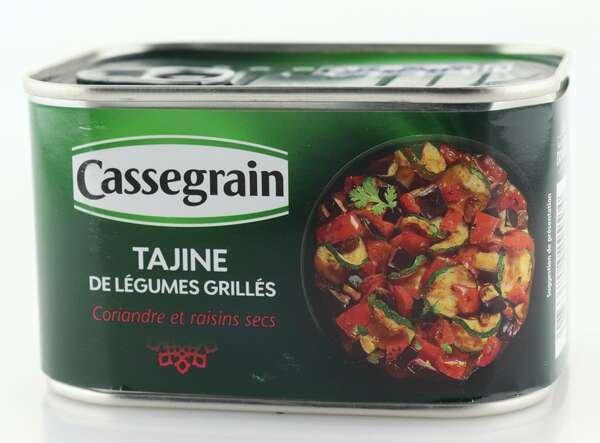 Cassegrain Tajine aus gegrilltem Gemüse, Koriander und Rosinen