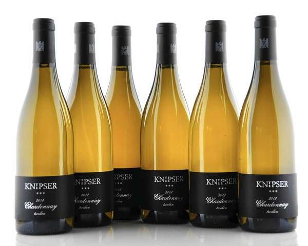 6 X Knipser Chardonnay *** Barrique trocken 2013 0,75L