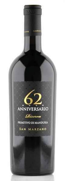 San Marzano 62 Anniversario Riserva Primitivo di Manduria