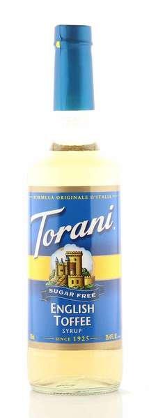 Torani Sirup English Toffee zuckerfrei 750ml Flasche