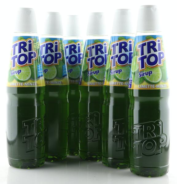 6 X TRi TOP Sirup Limette-Minze 0,6L