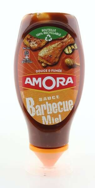 Amora Honig Barbecue Sauce 485g Standtube