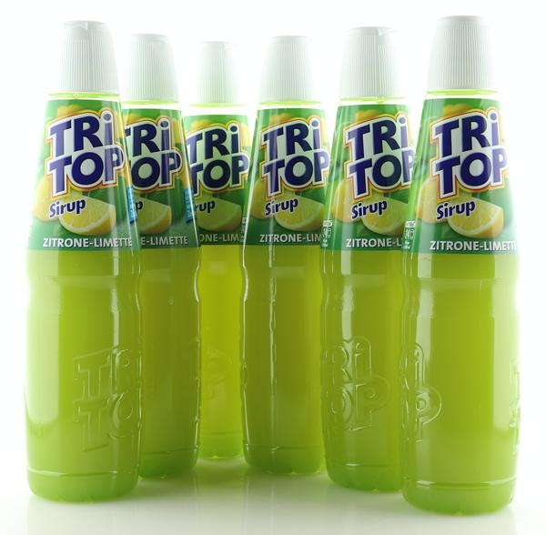 6 X TRi TOP Sirup Zitrone-Limette 0,6L