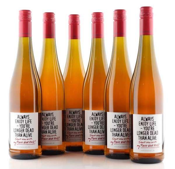 "6 X Emil Bauer Pinot Noir Rosé ""Always enjoy life"""