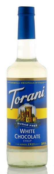 Torani Sirup weiße Schokolade zuckerfrei 750ml Flasche