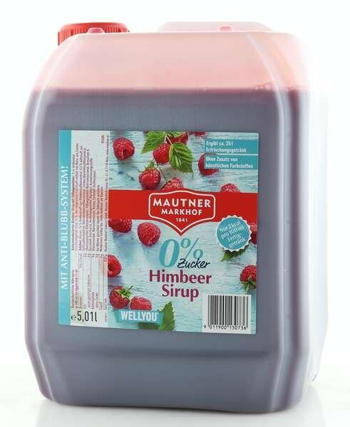 Mautner Markhof 0% Zucker Sirup Himbeere 5L