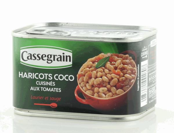Cassegrain Kokosnussbohnen gekocht mit Tomaten