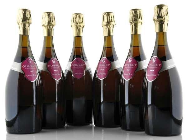 6 X Champagne Gosset Brut Grand Rosé 0,75l