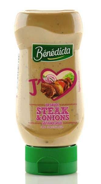 Benedicta Steak & Onions Sauce in der 245g Standtube