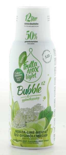 Frutta Max Light Bubble Holunderblüten- Limetten- & Minz Sirup