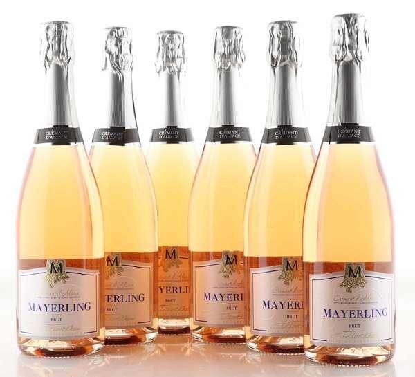 6 X Mayerling Cremant d'Alsace Mayerling Brut Rose 0,75L
