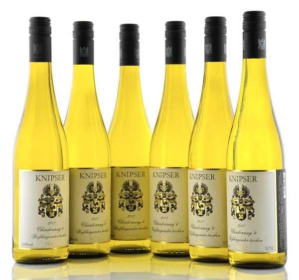 6 X Knipser Chardonnay & Weissburgunder trocken