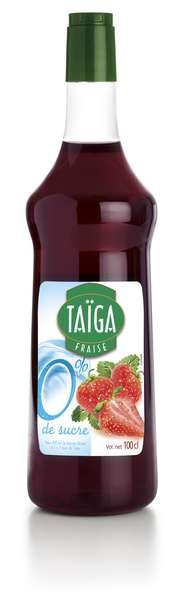 Teisseire Taiga 0% Sirup Erdbeere mit Stevia zuckerfrei 1L