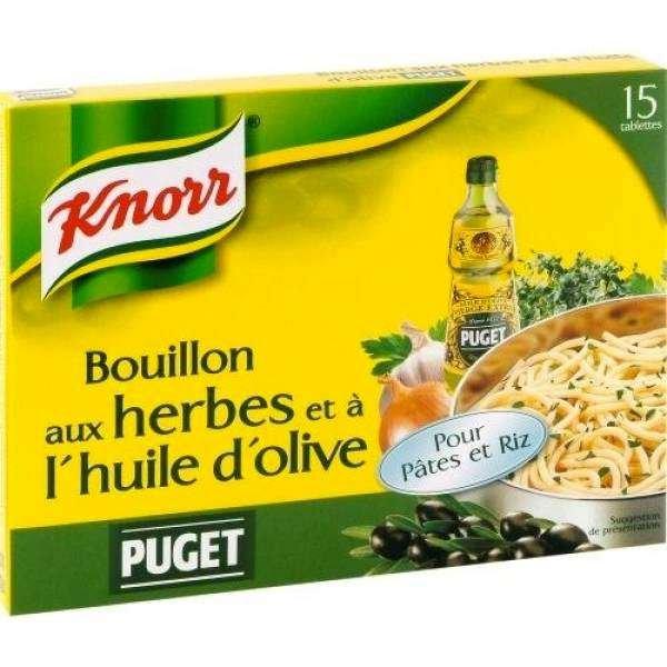 Knorr Brühwürfel mit Kräutern + Puget Olivenöl 150g