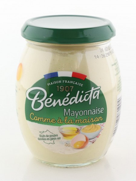 """Benedicta Mayonnaise """"comme a la Maison"""" im 255g Glas"""