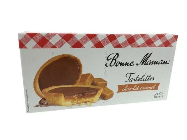 Bonne Maman Tartelettes Chocolat Caramel (kleine Törtchen mit Karamell) 135g