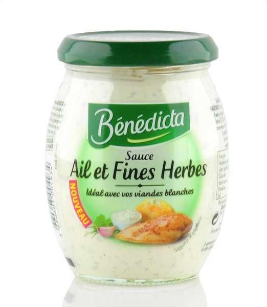 """Benedicta """"Ail et fines Herbes"""" Sauce mit Knoblauch und Kräutern im 260g Glas"""