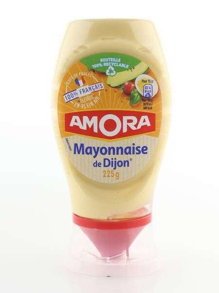 Amora Mayonnaise de Dijon 225g Standtube 100% francais