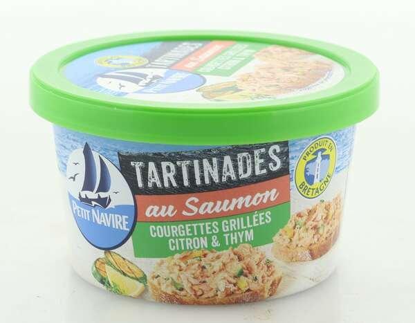 Petit Navire Aufstrich mit Lachs, gegrillten Zucchini, Zitronen und Thymian
