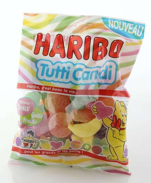 Haribo Fruchtgummi Tutti Candy 250g Beutel
