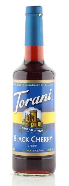 Torani Sirup schwarze Kirsche zuckerfrei 750ml Flasche