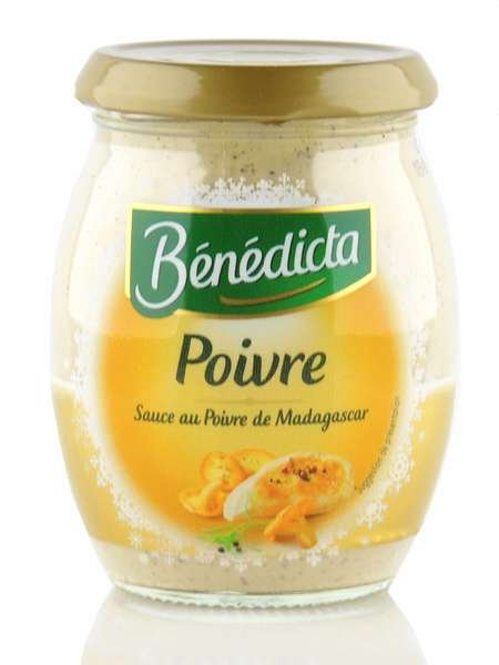 "Benedicta ""Poivre"" Pfeffer Sauce im 260g Glas"