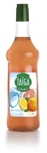 Teisseire Taiga 0% Sirup Zitrusfrüchte mit Stevia zuckerfrei 1L
