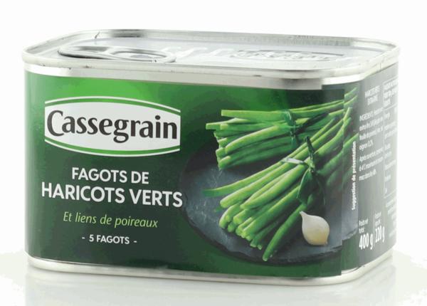 Cassegrain extrafeine grüne Bohnen mit Lauchband