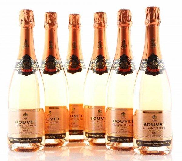 6 X Bouvet Brut Crémant de Loire Rosé Excellence AOC 0,75L