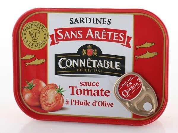 Connetable Sardinen in Tomatensauce mit nativem Olivenöl extra 140g