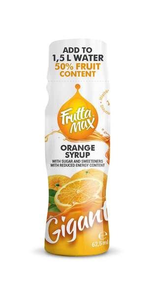 12 X Frutta Max Gigant Fruchtsirup mit Orangen-Geschmack 62,5ml
