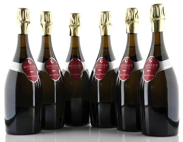6 X Champagne Gosset Brut Grand Réserve 0,75l