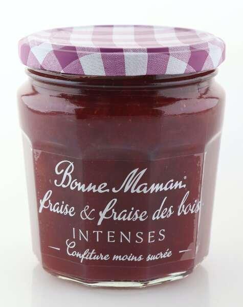 """Bonne Maman Intense (intensiv fruchtig) """"Erdbeere & Walderdbeere"""" 335 Glas"""