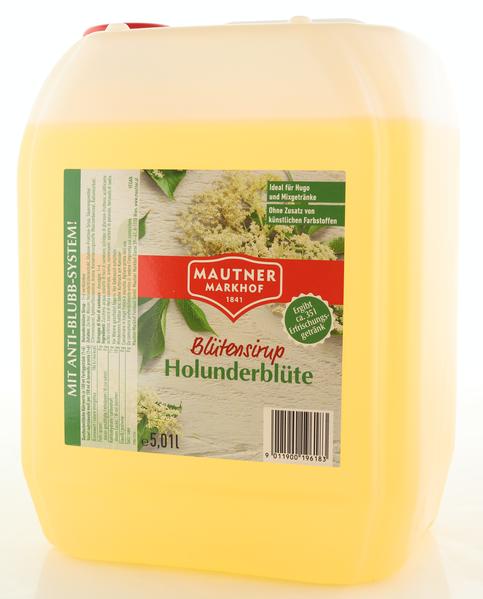 Mautner Markhof Sirup Holunderblüte 5L