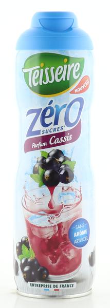Teisseire Zero Sirup Cassis zuckerfrei 600ml