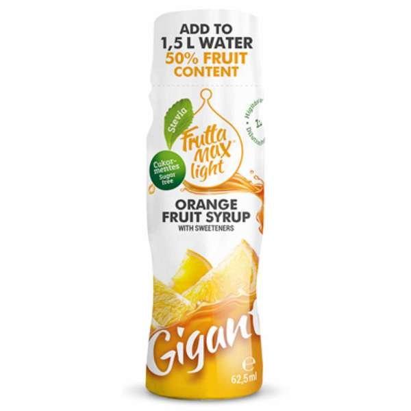 12 X Frutta Max Light Gigant Fruchtsirup ohne Zucker mit Orangen-Geschmack 62,5ml