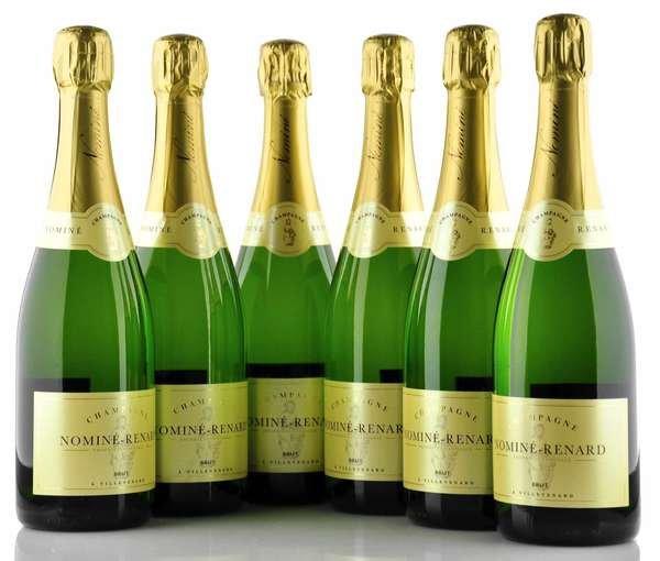 6 X Nominé Renard Champagner Brut