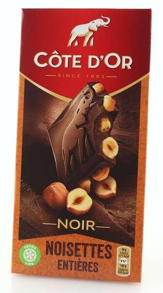 Cote d'Or Feinherbe Schokolade mit ganzen Haselnüssen
