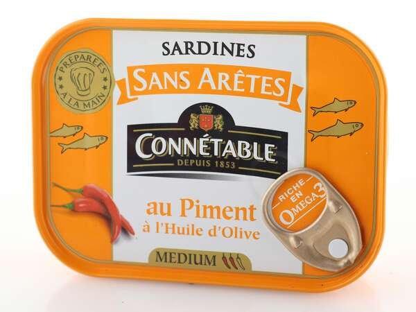 Connetable Sardinen mit Chili mit nativem Olivenöl extra 140g